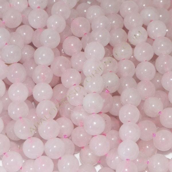 Cuarzo rosa claro bola 6 mm