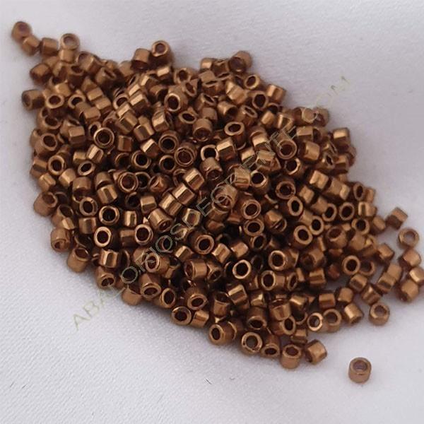 Delica bronce brillante 5 gramos