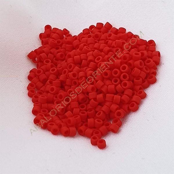 Delica rojo mate 5 gramos