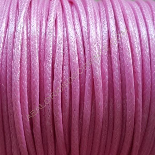 Algodón encerado brillante 2 mm rosa