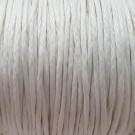 Algodón encerado mate 1 mm blanco