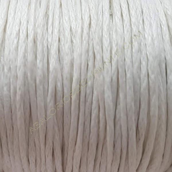 Algodón encerado 2 mm blanco