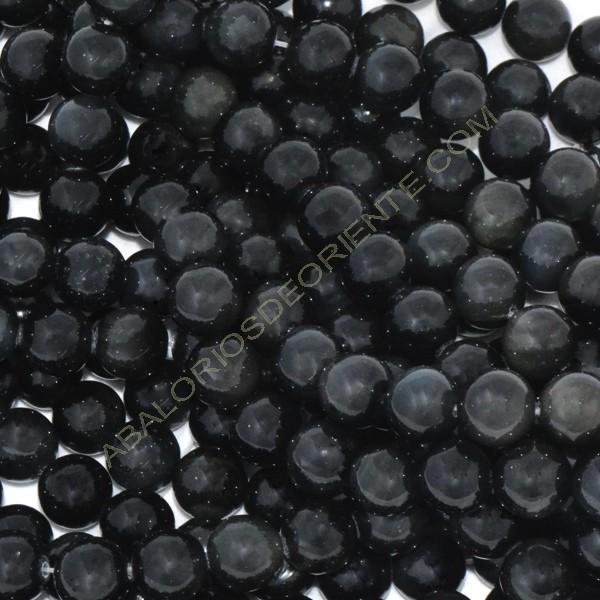 Tira de Obsidiana negra bola 4 mm