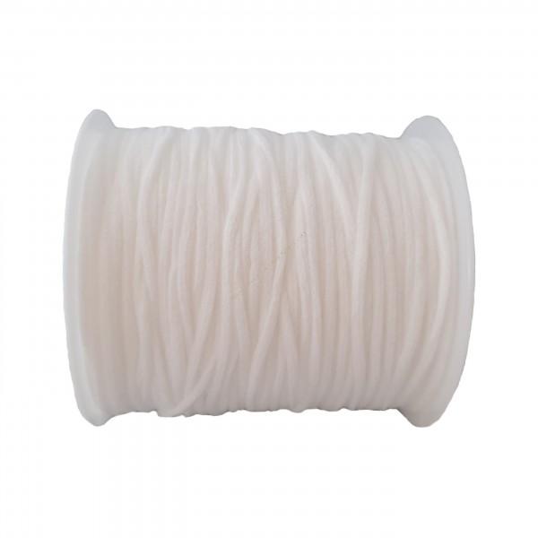 Goma redonda elástica para mascarilla blanca