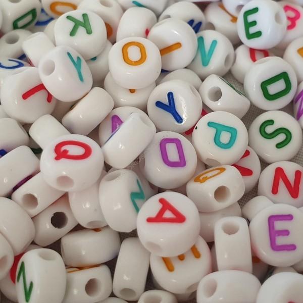 Bolsa de letras redondas de colores