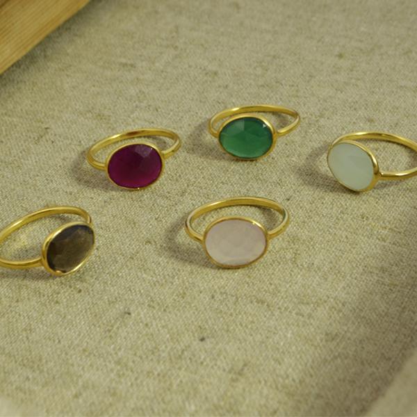 Conjunto anillos ovalados 2