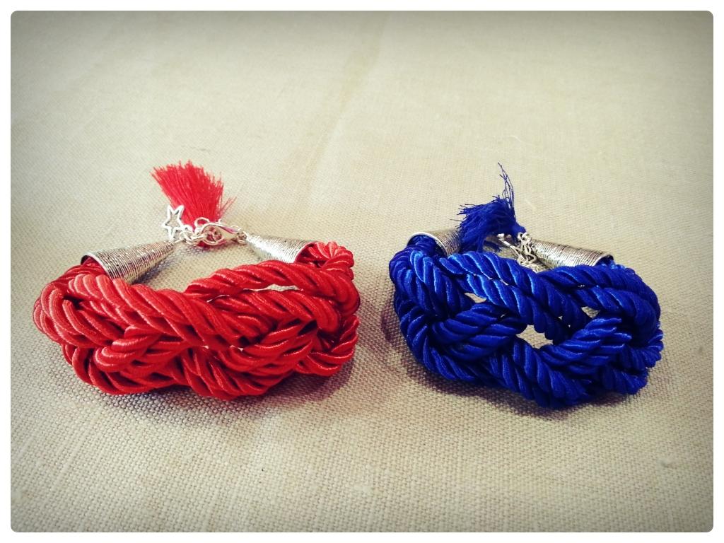 Pulsera marinera roja y azul