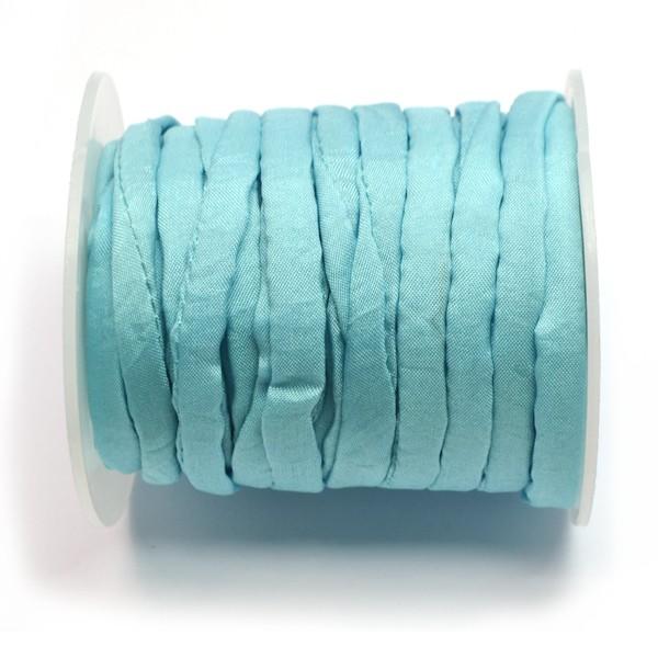 cordón de seda natural india habotai azul bebe de 5mm