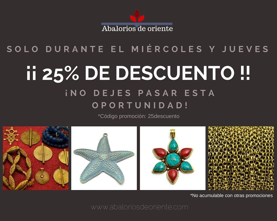 GRAN OFERTA DEL 25% DE DESCUENTO