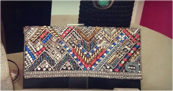 Bolso indio tipo cartera negro - Nuevos bolsos indios