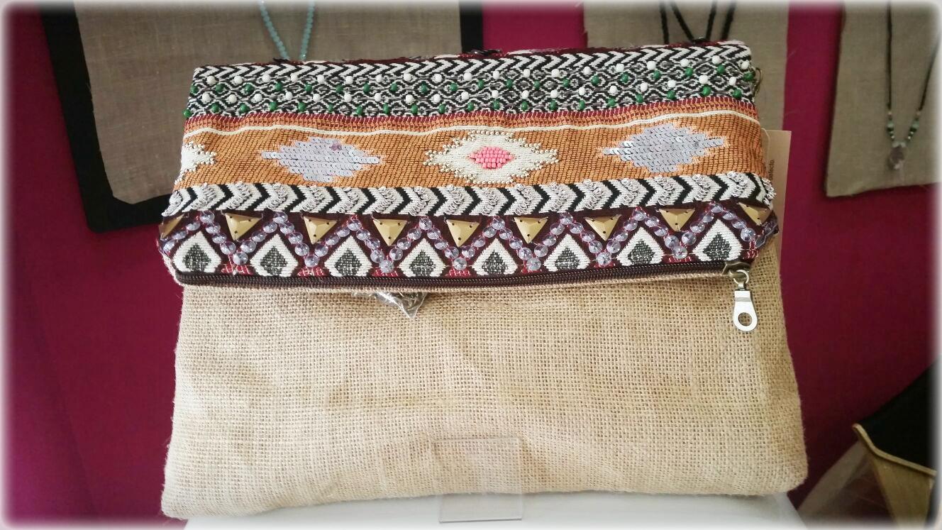 Bolso indio beige - Nuevos bolsos indios