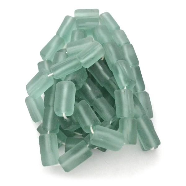 Tubo rectangular de vidrio reciclado africano