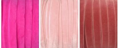 Cintas terciopelo rosa