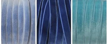Cintas terciopelo azul