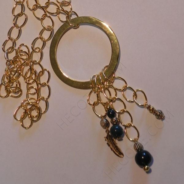 Collar cadenas doradas